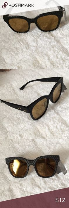 Black Sunglasses w/ Gold Lenses Super cute, brand new! No trades! Accessories Sunglasses