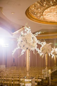 Gold and cream ceremony decor | photography by http://www.msp-photography.com