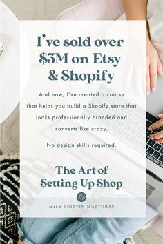 Shopify Stores Das Konvertieren Like Craft Business, Creative Business, Online Business, Business Planning, Business Tips, Tshirt Business, Business Management, Starting An Etsy Business, Sell On Etsy