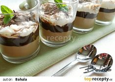 Čokoládový pohár s mascarpone recept - TopRecepty.cz Sweets Cake, Mini Cheesecakes, Pavlova, Something Sweet, Trifle, Nutella, Cookie Recipes, Panna Cotta, Food And Drink
