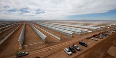 A Massive Solar Power Plant Is Taking Shape in the Sahara Desert. Construction for the first phase of Morocco's Noor 1 power plant is nearing completion. Current half-million mirrors are visible from space. Solar Power Batteries, Portable Solar Power, Viria, Solar Battery Charger, Photovoltaic Cells, Solar Installation, Solar House, Taking Shape, Solar Energy System