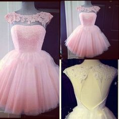 New Arrival Short Puffy Pink Prom Dress Tulle