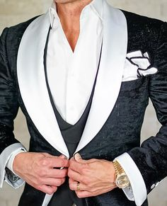 Now here's one of our most epic jackets! If you like the way it looks, wait until you touch this handmade piece! #wedding #groom #weddinginspiration