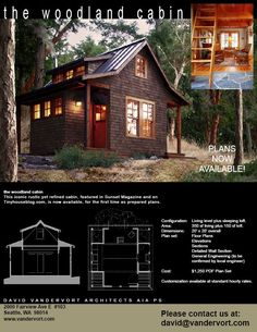 the woodland cabin Plans – now available!