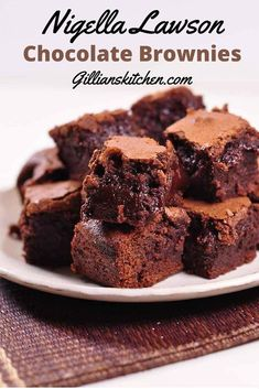 Quite possibly the only brownie recipe you will ever need, Nigella Lawson Chocolate Brownies, from her gorgeous bake book, How to be a Domestic Goddess.