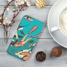 """Colorful Girl Diving Design  for Apple iPhone ,Samsung Galaxy and Various Model ✔£4.99 ✔ Free UK Next Day Delivery ✔Worldwide Shipping use Discount Code """"pinterest123""""to get 10% off at checkout"""