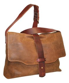 Look what I found on #zulily! Saddle Up Leather Messenger #zulilyfinds