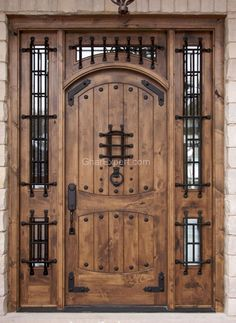 Shop for Top Quality Rustic Exterior Doors in Knotty Alder or Teak. Arched Top Exterior Teak Doors and Arched Top Exterior Knotty Alder Doors with Enhance the Look of Your Home Wood Entry Doors, Wood Exterior Door, Rustic Exterior, Rustic Doors, Entrance Doors, Wooden Doors, Entrance Ideas, Doorway, Cool Doors