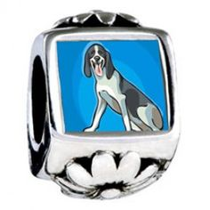 Animal Theme Dog Photo Flower Charms  Fit pandora,trollbeads,chamilia,biagi,soufeel and any customized bracelet/necklaces. #Jewelry #Fashion #Silver# handcraft #DIY #Accessory