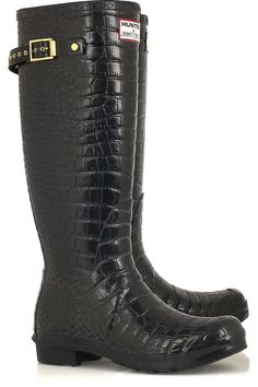 0186f39b11e7 JIMMY CHOO for Hunter Crocodile-print Wellington boots Hunter Wellies