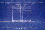 Frank Lloyd Wright  Column Details for S.C. Johnson and Son,  Inc. (detail)  Cyanotype on heavy paper, 1945 (Blueprint)  Provenance: City of Racine Building Commission, Wisconsin  H: 36 1/4 x W: 46 1/2 inches (full sheet)