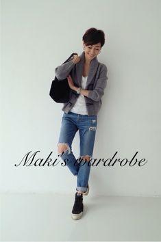 Maki's wardrobes e Japanese Models, Japanese Fashion, Work Fashion, Fashion Outfits, Fashion Trends, Fashion Models, Her Style, Cool Style, Stylish Outfits