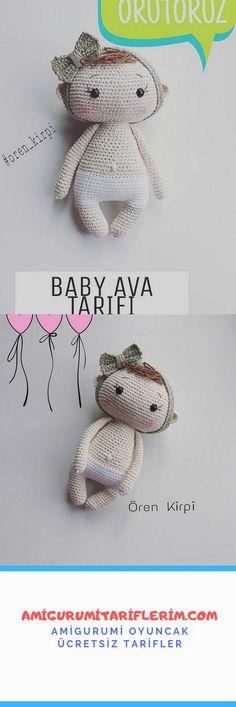 Amigurumi Baby Ava Recipe - My Amigurumi Recipes Ava Doll, Dolls, Crochet Amigurumi Free Patterns, Amigurumi Doll, Doll Patterns, Baby, Baby Dolls, Miniatures, Crochet Bunny