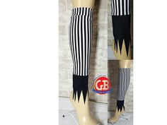 Jack Skellington inspired Calf Sleeves for your greatest Nightmare before Christmas inspired race costume