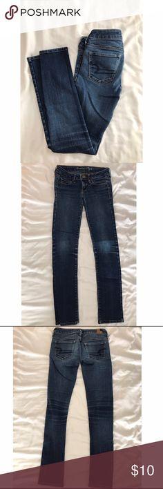 American Eagle Skinny Jeans American Eagle blue skinny jeans, size 2 short. American Eagle Outfitters Pants Skinny