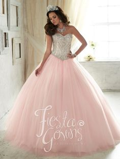 Beaded Strapless Dress by House of Wu Fiesta Gowns Style 56290