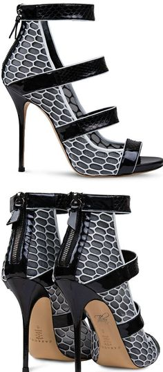 Shoe Crush: Casadei ● Graphic Snakeskin Sandal