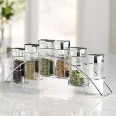 Perfect Cost Wayfair Basics 6 Jar Spice Jar & Rack Set By Wayfair Basics™