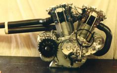 Burt Munro's 'Special' Engine. Look at the size of that counter shaft sprocket.