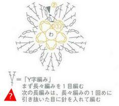 Crochet Tiny Flower - Chart  ❥ 4U // hf