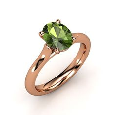 Simple, yet stunning. The Ursa Ring in Green Tourmaline and Rose Gold.