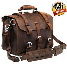 Handmade Full Grain Leather Heavy Duty Messenger Bag & Backpack  #Blackfridaydeals #deals