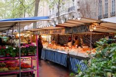 The most beautiful food can be found early in the morning at Parisian markets.