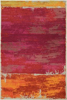 Energetic mid-century abstract expressionists splashed paint onto canvas in surprising ways. A few decades later, those splashes convey genuine feeling with a powerful color message. Expressions, by Oriental Weavers for PANTONE UNIVERSE, is a new. Pantone Universe, Homemakers Furniture, Pink Rug, Rugs Online, Modern Rugs, The Fresh, Oriental, Area Rugs, Abstract
