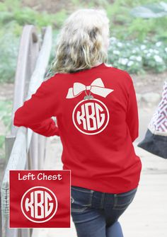 Get your Preppy Ornament Monogram t-Shirt.  Available from Under the Carolina…