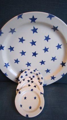 Emma Bridgewater Blue Star Cake Plate