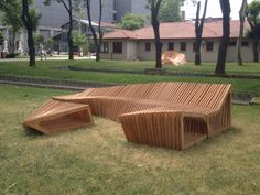 RELAXING BENCH | Urban Furniture Urban Furniture, Outdoor Furniture Sets, Outdoor Decor, Architecture, Wood, Bench, Public, Space, Design