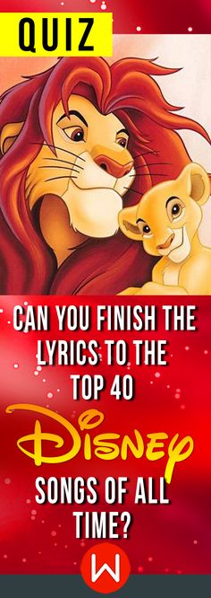 Quiz Can You Finish The Lyrics To The Top 40 Disney Songs Of All Time is part of Disney quiz - Warm up your vocal chords because you won't be able to resist singing along to these nostalgic hits Disney Song Quiz, Disney Test, Disney Songs, Disney Facts, Disney Quotes, Disney Trivia, Disney Movies, Disney Pixar, Walt Disney