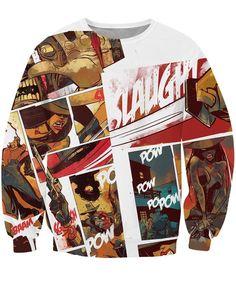Comic Action Sexy Lady Sword Gun Attack Bloody Street Style Design Sweatshirt  #Comic #Action #Sexy #Lady #Sword #Gun #Attack #Bloody #Street #Style #Design #Sweatshirt
