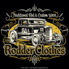 Rodder Clothes '30 Traditional Coupe T-shirt artwork #hotrod #hot #rod #wear #tshirt #artwork