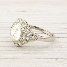 antique 1.07 carat diamond engagement ring~ erstwhile jewelry. It's all about being UNIQUE.