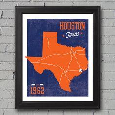 Houston Astros Print by UniversityPrints on Etsy, $12.00