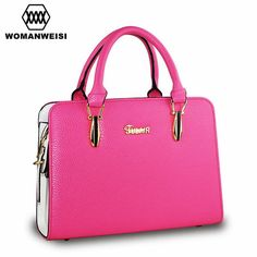 Woman Famous Brand Handbags 2016 New Designer 8 Colors High Quality PU Leather Women Messenger Cross-Body Bags Candy Hand Bag