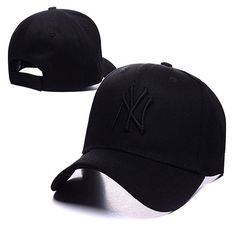 f9c18421f9314d all black Men Peaked Caps Snapback Baseball Caps NY Golf Cap Sports New  York Adjustable Women casquette Men Hunting Hats Many Style SD
