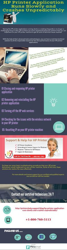 HP Printer Application Runs Slowly and Crashes Unpredictably  for more details visit on web http://printershelp.support/blog/hp-printer-application-runs-slowly-and-crashes-unpredictably/ or dial our toll free number @ +1-800-786-0581