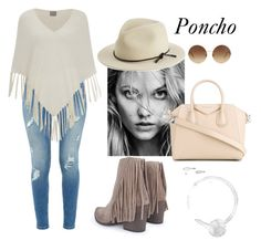 """Poncho"" by arsty7800 ❤ liked on Polyvore featuring Ted Baker, Vero Moda, Boohoo, rag & bone, Givenchy and Victoria Beckham"