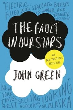 The Fault in Our Stars' book by John Green. I've just about stopped crying. :-(