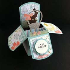 Easter Pop Up Box Card with Easter Basket & by PeaceLoveandJoyce, $10.00