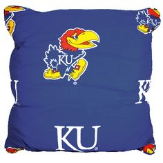 Kansas Jayhawks 16'' x 16'' Decorative Pillow