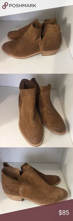 Suede ankle booties Brown suede ankle booties. I will take offer. No trade Dolce Vita Shoes Ankle Boots & Booties
