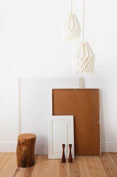 Origami Lamp Plain Polar White Design Lampshade FREE by blaanc