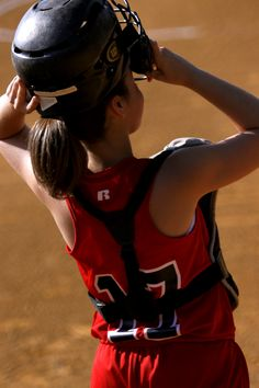 softball! Monica thanks for the hours spent on my cornrow braids so I could put my softball catchers helmet on. Miss softball.