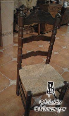 Silla De Madera Estilo #rustico #hogar #decoración #muebles