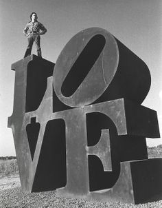 The original LOVE sculpture - Robert Indiana - 1970 | its a sign | brilliant black  white photography | vintage love | king of love | art | sculpture