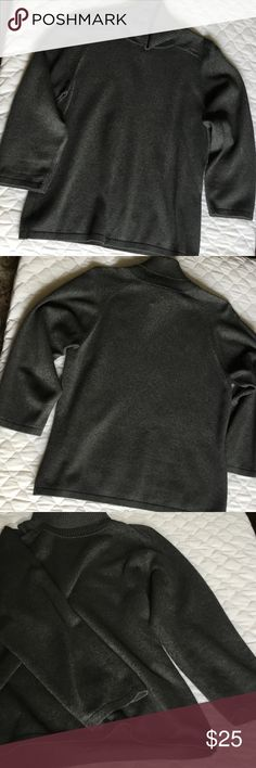 Silk/Cashmere 3/4-Sleeve Turtleneck Sweater Lovely, form-fitting sweater. Runs a bit small, but is stretchy thanks to a bit of Lycra. 73% Silk, 13% cashmere, 12% nylon, 2% Lycra blend. Preview Sweaters Cowl & Turtlenecks