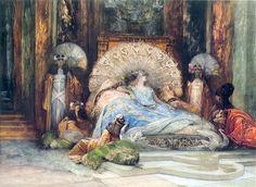 """""""Georges Jules Victor Clairin, Portrait of Sarah Bernhardt in Theodora, 1893 """""""